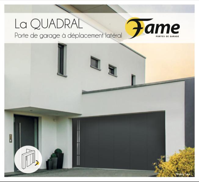 La Quadral porte de garage FAME, PORTE DE GARAGE A DEPLACEMENT LATERAL